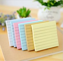 80 Pages Macaron Color sticky notes Stripe Mini Notebook Diary Agenda Message Note Work Schedule Desktop Scratch Pad Memos Book