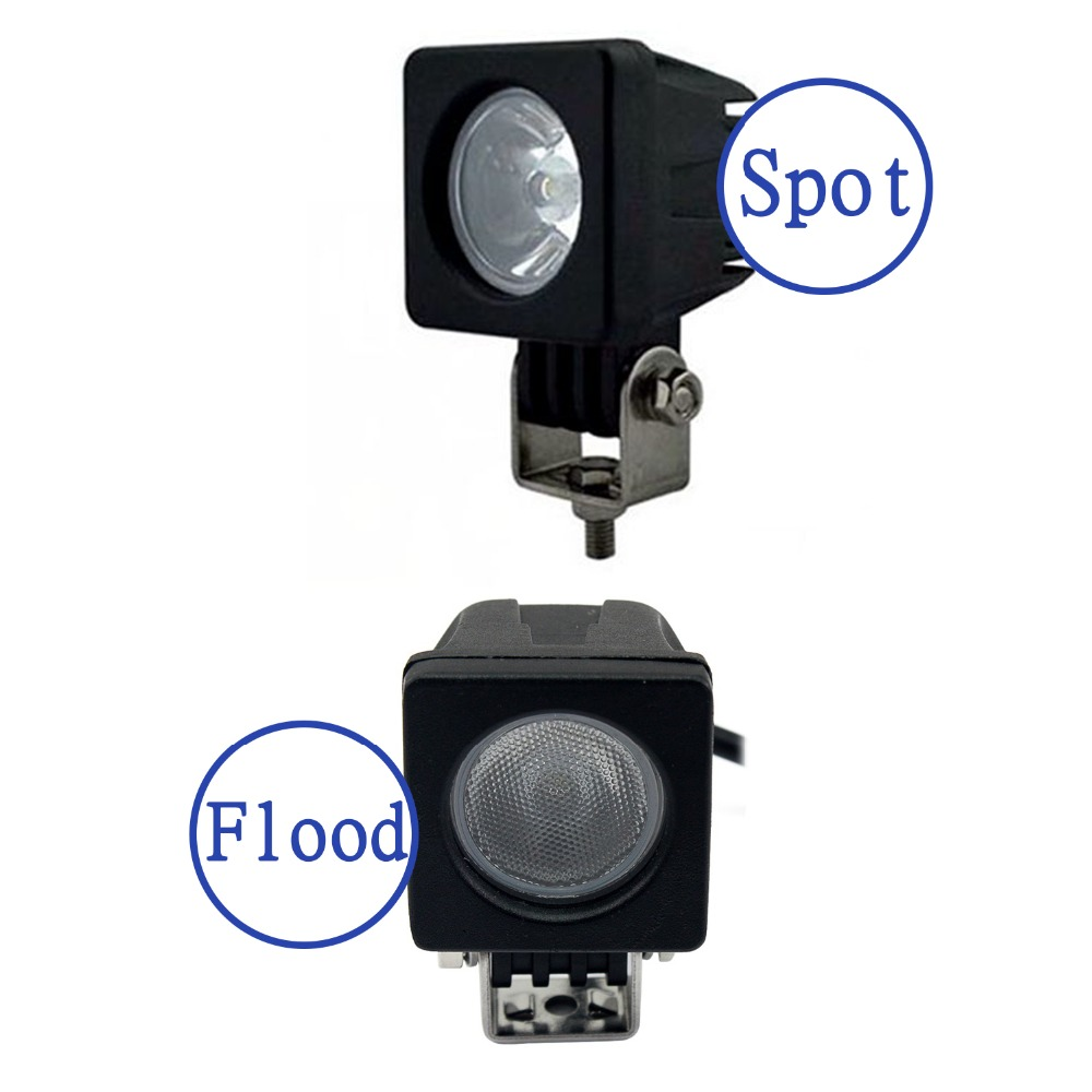 1PCS 10W 1000LM with Cree LED Chips Work Light For 4x4 Boat Off Road Spot Flood Motorcycle Bicycle Truck Fog Driving Lamp D15<br><br>Aliexpress