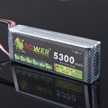 Lion power Li-PO 11.1V 5300MAH 40C high capacity lithium polymer battery for rc heli cars truck R/C model toy +free shipping
