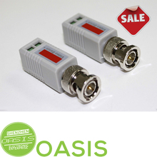 2PCS Mini CCTV BNC Video Balun for Security Suveillance Video System