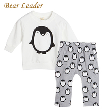 Bear Leader Hot Baby Girls Clothes Sets Cartoon Penguin Pattern Newborn Boys Cloting Suits Long Sleeve Shirt+Pants 2pcs For Kids