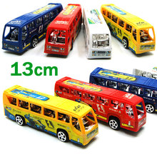 EFHH Children Plastic Pull-back Toys School Bus Car Puzzle Small Toys For Children Educational