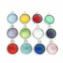 Mixed Styles Birthstone 15*18mm Dangle Pendant Hang Charm Fashion Jewelry Fit Necklaces bracelet skey chains mobile phone straps(China)