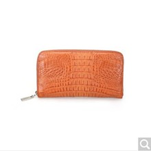 River Thailand native crocodile leather wallet men and women universal style caiman alligator back skin in the middle skin(China)