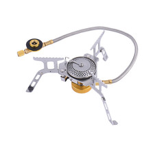 Outdoor camping gas stove burner fuel tank combined gas cooker camping stainless steel gas Mini stove Plastic box packaging