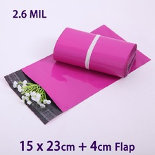 20Pcs Purple Small Packaging Shipping Envelope Bag 15x23cm Poly Mailer Plastic Envelopes Mailing Bags Sobres(China)