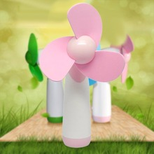 1pcs Portable ABS Handheld Mini Fan Super Mute Battery Operated For Cooling pink