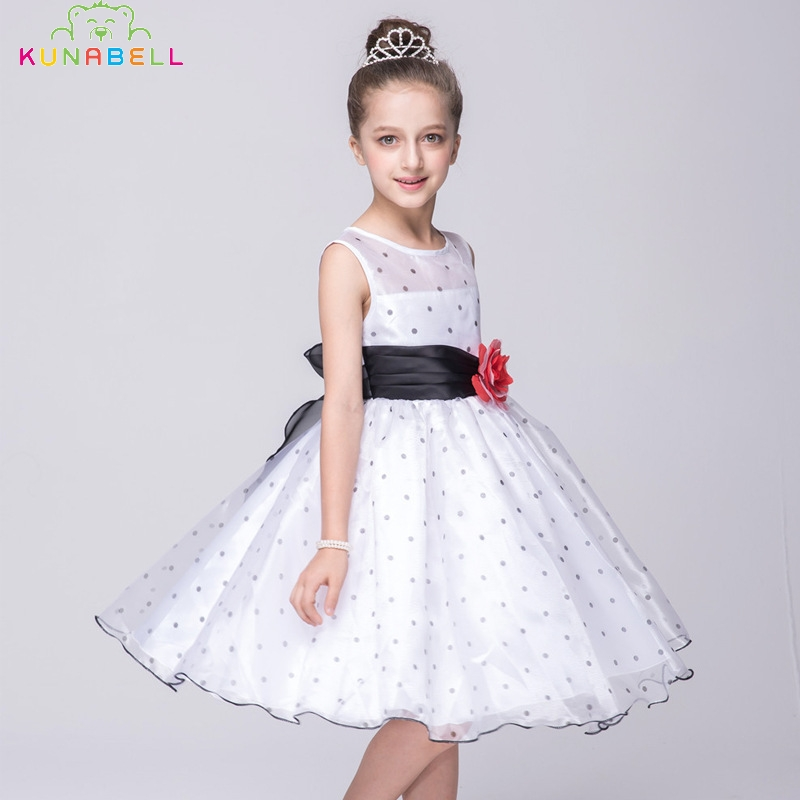 New Spring Summer Girls Dresses Children Tutu Party Flower Dress Kids Fashion Lace Princess Dot Clothes Girls Dancing Dress S19<br><br>Aliexpress