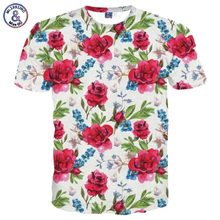 Mr.1991INC Brand T-shirt Men/Women Fashion Flowers T shirt 3d Print Birds Green Leaves Tshirt Summer Tops Tees Plus Size 3XL 4XL(China)