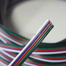 10m 5 Pin RGBW Extension Wire Connect Cable Cord 5 Core For 3528 5050 RGBW RGBWW LED Strip 22 AWG Free Shipping(China)