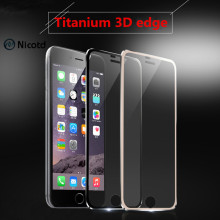 Nicotd 3D Curved Edge Titanium Tempered Glass For iPhone 6S 6 Full Coverage Screen Protector Protective Film For iPhone 7 Plus