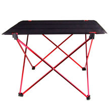 New Aluminium Alloy Portable Folding Table Foldable Picnic Table Desk for Outdoor Camping(China)