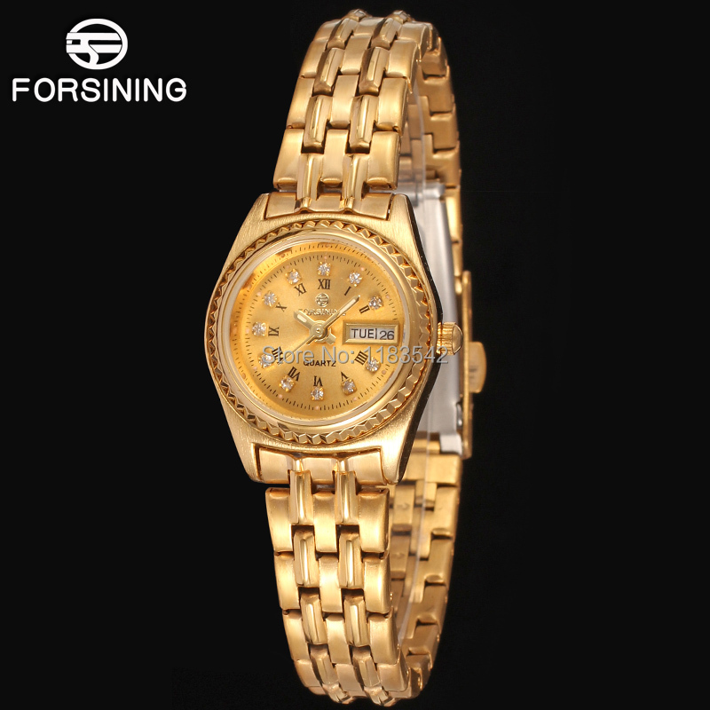 FORSINING  Famous brand Quartz gold ladies wristwatch stainless steel bracelet best gift shipping FSL8014Q3R1 free<br><br>Aliexpress