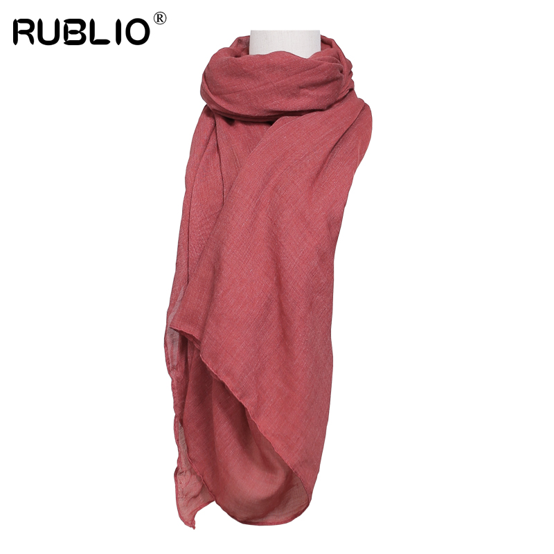 RUBLIO 2017 women scarves soft solid hijabs long head Scarf double faced High quality shemagh foulard femme 78*35 inch(China (Mainland))