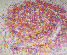 50g Neon Powder pigment  Mix Hexagon Heart Strip nail glitter Solvent Resistant for Nail Polish&Gel Acrylic Nail make up