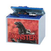 1 pcs / lot Cartoon Godzilla Movie Musical Monster Moving Electronic Coin Money Piggy Bank Box