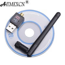 Mini 150Mbps USB WiFi Wireless Adapter Network Lan Card Portable Wifi Receiver Adaptador with 2DB Antenna IEEE802.11n/g/b(China)