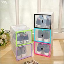 Multicolour thickening transparent clamshell shoebox plastic shoes long boots storage box finishing