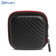 Buy Earphone box Fiber Zipper Headphone Earphone Earbuds Hard case Storage Carrying Pouch bag SD Card Hold box portable Carry Bag for $1.14 in AliExpress store