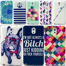 Note3 Cell Phone Case For Samsung galaxy Note 3 III N9000 NoteIII Back Cover Soft silicon TPU Shell Fundas Dog Cat Unique Casing
