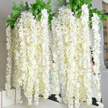 Long 160cm 62inch 8 Colors Free Shipping high artificial silk wisteria flowers wedding decoration flowers(China)