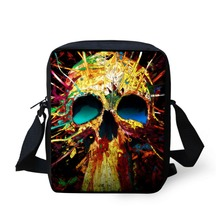 Cool Small Men's Travel Messenger Bag Skull Print Boys Crossboby Bags Children Kids Handbag Casual Designer Shoulder Bag