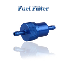 10pcs Fashion Blue Motorcycle Fuel Filters Oil Petrol Filters Universal Gasoline Filter Clear Inline Gas Fuel Filter Bike 1/4