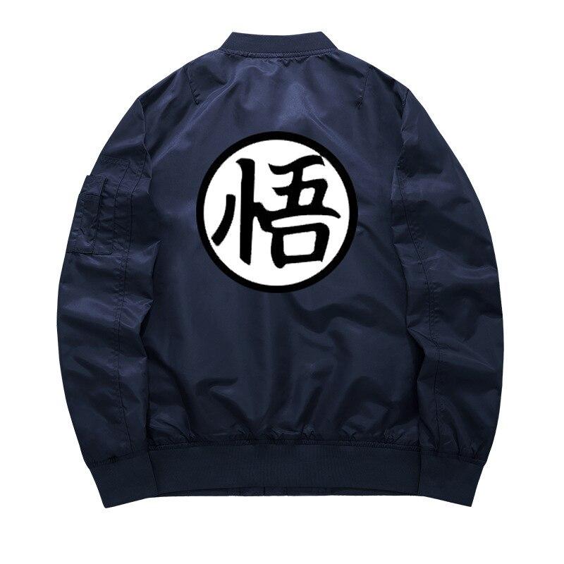 Mens Anime Dragon Ball Goku Wukong Son Padded Jackets Baseball Thick Bomber Coat