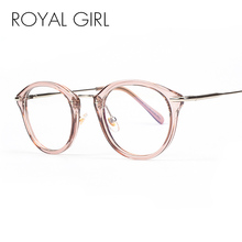 ROYAL GIRL High Quality TR Frame Fashion Glasses Women Eyeglasses frame Vintage Round Clear Lens Glasses os012(China)