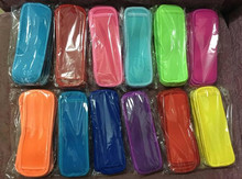 DHL 50pcs/lot  Popsicle Holders Pop Ice Sleeves Freezer Pop Holders 21 Colors for Kids 8x16cm