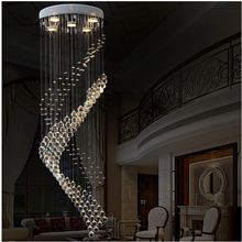 Crystal chandelier modern minimalist circular staircase fashion living room bedroom dining LED lamp 90-260V
