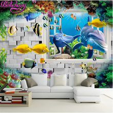 beibehang papel de parede modern seafloor mobilization wallpaper scenery outside the window the undersea world background wall(China)