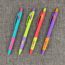 4PCS Creative Candy Color Ballpoint Pen Colorful Exclamation Mark Plastic Ball Pens Office School Gifts