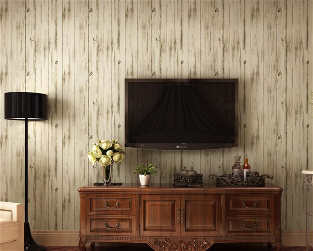 beibehang  The American style is made up of old character wood and wood wall wallpaper papel de parede papel parede wall paper <br>