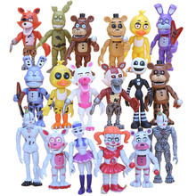6Pcs/set 10cm Five Nights At Freddy's fnaf Baby Funtime Foxy Funtime Freddy Ballora Ennard Puppet Plushtrap Chica Action Figures