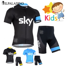 Boys Pro Cycling Jersey Set Ropa Ciclismo Cycling Kit for Kids Breathable Quick Dry Bicycle Clothing Children