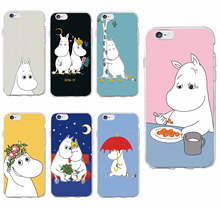 Buy iPhone 7 7Plus 6 6S 6Plus 5 5S SE 5C SAMSUNG Cute Cartoon Hippo Hippopotamus Moomin Lover Soft Phone Case Coque Fundas for $1.43 in AliExpress store