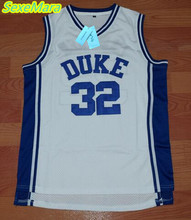 SexeMara Christian Laettner 32 DUKE Basketball Jersey White Cheap Throwback Basketball Stitched Jerseys Free Shipping(China)