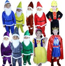Snow White The Seven Dwarfs Costume Cosplay For Kids