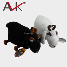 The 3 D nimation How to Train Your Dragon Black And White Sheep Movie Character Plush Toy Free Shipping
