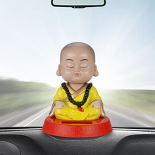 Car Decoration Nodding Monks Ornament Solar Automobile Interior Monk Figurine Decor Home Furnishing Car Styling Accessories(China)