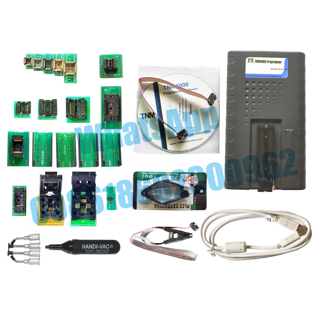 TNM5000 USB EPROM Programmer+15pcs sockets include TSOP48+TSOP56,support labtop IO,NEC device,TNM5000 can repair Toyota car(China (Mainland))