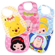 Disney 2 Pcs/lot Cotton Bibs For Baby Feeding Mother Nest Baby Bibs Cartoon Printed Style Baby Girls Boys Bibs & Burp Cloths(China)