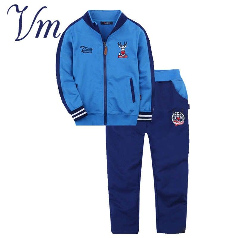 VM New Spring Autumn Big Boys Clothing Set Kids Leisure Suit Children Girls Tracksuit Clothes T Shirt Pants Fashion Gift<br><br>Aliexpress