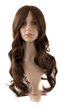 Charm Long Wavy Medium Brown Hair Synthetic Wig(NBW0WG60096-MA2)