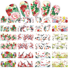 STZ 12 Designs/Sets Nail Sticker Chinese New Year Theme Pattern Watermark Tips Nails Decals Full Nail Art Tools BN529-540