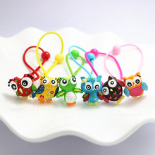 Buy 6 PCS Cute Resin Animal Owl KT Cat Kids Elastic Hair Bands Baby Headdress Children Hair Ropes Girls Hair Accessories for $2.95 in AliExpress store