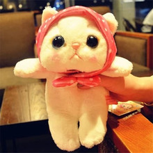 25CM Christmas Kawaii Cat Plush Toy Animal Stuffed Soft Doll Japanese Anime Choo Cat Baby Juguetes Toys For Children 3 Style