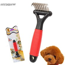 SYDZSW New Elbow Design Pet Comb for Dogs Cats Stainless Steel Dog Comb Easy Open Knot Pet Supplies Dog Hair Grooming Products