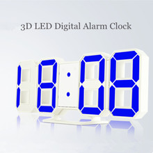 Modern Desk Clock LED Digital Alarm Clock 24/12-Hour Snooze Night Mute Mode Ajustble Luminance Table Wall Clock Home Decoration(China)